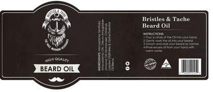 #6 untuk Design 3 Beard Oil Labels for new products launch oleh RainMQ