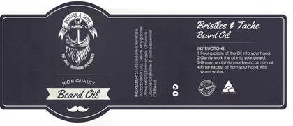 #14 untuk Design 3 Beard Oil Labels for new products launch oleh RainMQ