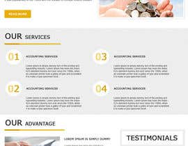 #34 untuk Design a Website home page for new firm of Accountants in the UK oleh nilsoft123