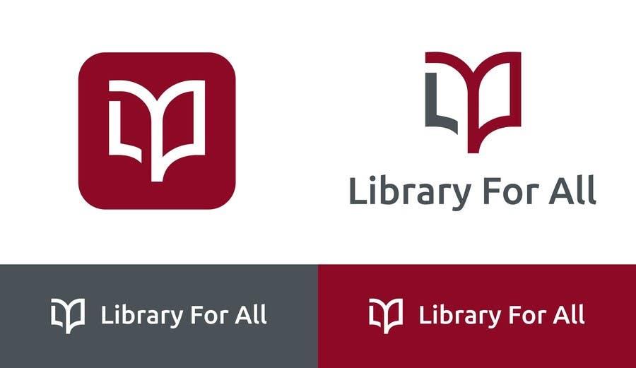 Penyertaan Peraduan #318 untuk Design a Logo for the Library For All application!