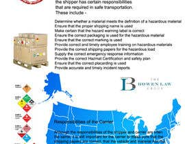 libertany tarafından Illustrate an Infographic About US Federal Hazardous Materials Transportation Regulations için no 11