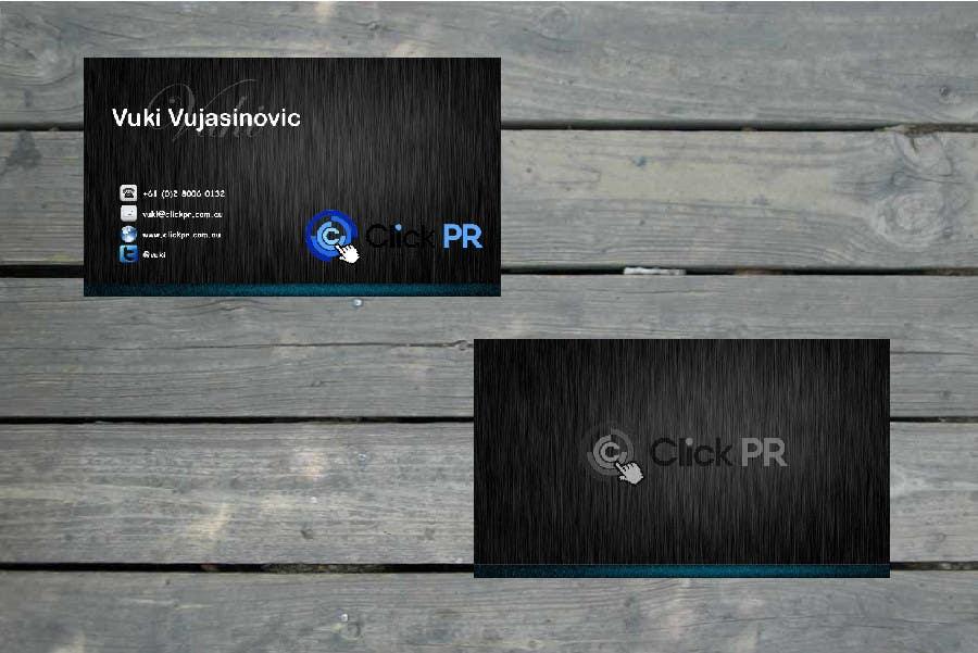 Contest Entry #16 for Business Card Design for Click PR