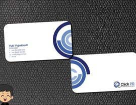 #193 pentru Business Card Design for Click PR de către elindana