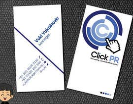 #105 pentru Business Card Design for Click PR de către elindana
