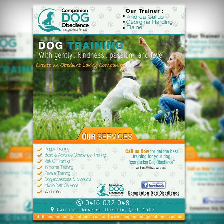 Penyertaan Peraduan #23 untuk Dog Obedience Flyer Design