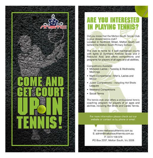 Inscrição nº 3 do Concurso para Design a DL Flyer for Tennis Club
