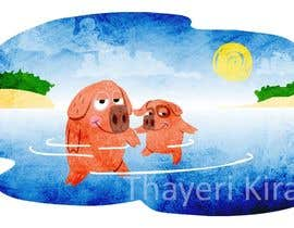 #21 untuk Illustrate Something for a swimming pig.. oleh thayerikiran93