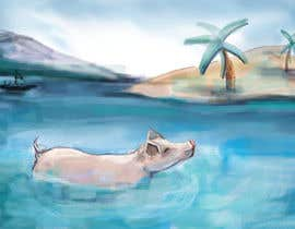 #13 for Illustrate Something for a swimming pig.. af stevanzivkovic
