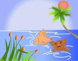 #12 untuk Illustrate Something for a swimming pig.. oleh webmastersud