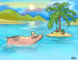 #1 untuk Illustrate Something for a swimming pig.. oleh weijia