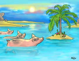 #2 untuk Illustrate Something for a swimming pig.. oleh weijia