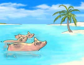 #11 for Illustrate Something for a swimming pig.. af weijia
