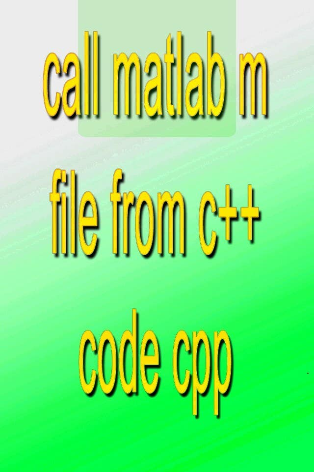 Inscrição nº                                         17                                      do Concurso para                                         call matlab m file from c++ code cpp
