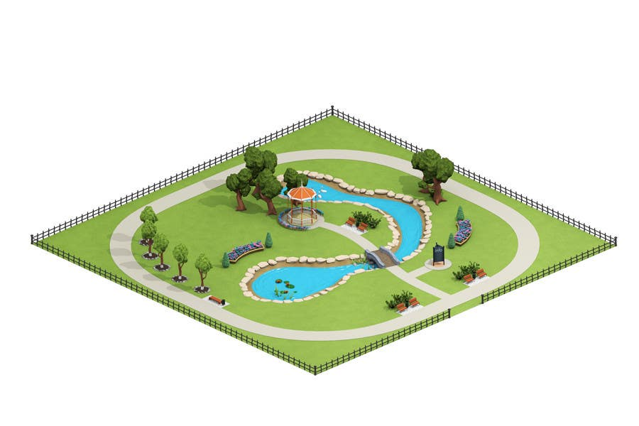 Contest Entry #30 for 100 isometric building designs for iPhone/Android city building game