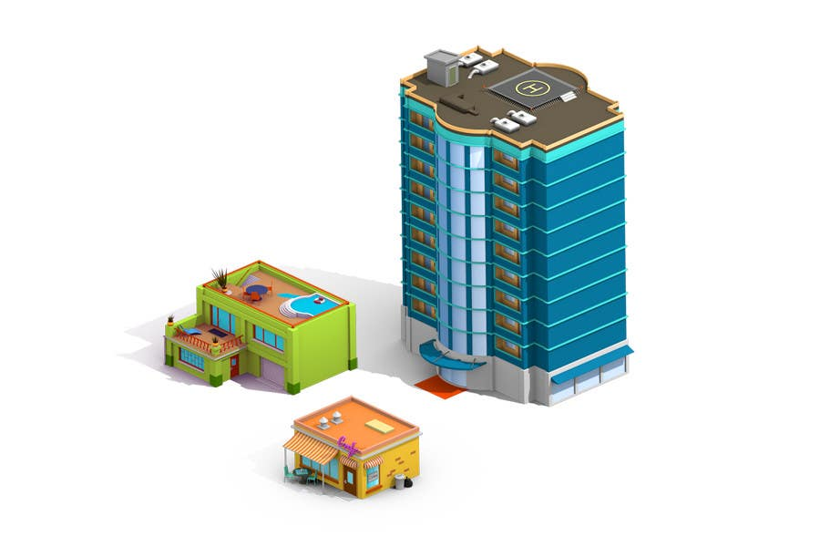 Contest Entry #                                        9                                      for                                         100 isometric building designs for iPhone/Android city building game