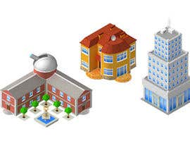 #5 dla 100 isometric building designs for iPhone/Android city building game przez furud