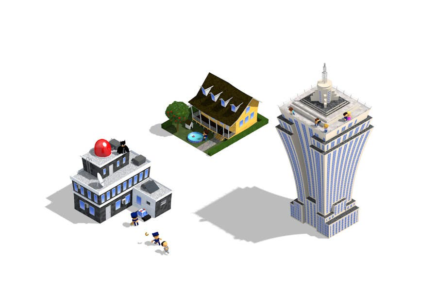 Konkurrenceindlæg #                                        25                                      for                                         100 isometric building designs for iPhone/Android city building game