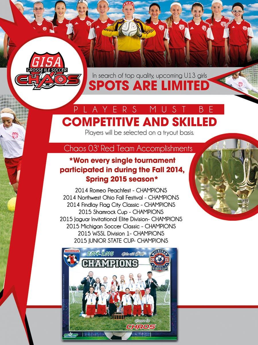 Inscrição nº 9 do Concurso para Design a Flyer for Advertisement for Soccer team