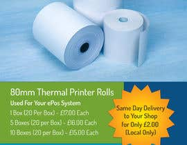 nº 5 pour Design a Flyer for Thermal Printer Roll par vw7993624vw