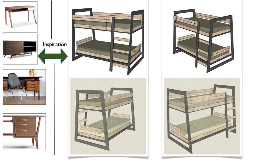 Penyertaan Peraduan #5 untuk IKEA Bunk Bed Hackathon - Mid Century Modern