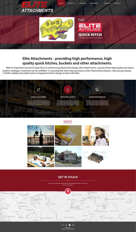 Konkurrenceindlæg #9 for Design a Website Mockup for Elite Attachments Website