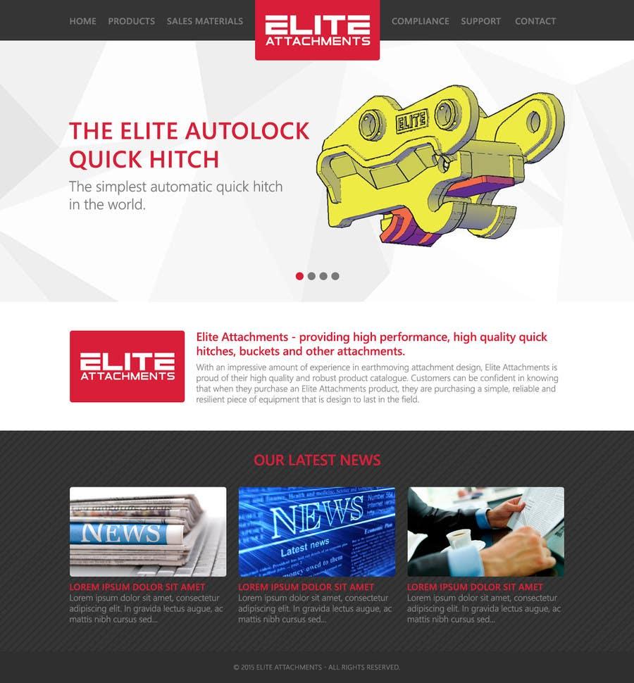 Konkurrenceindlæg #26 for Design a Website Mockup for Elite Attachments Website