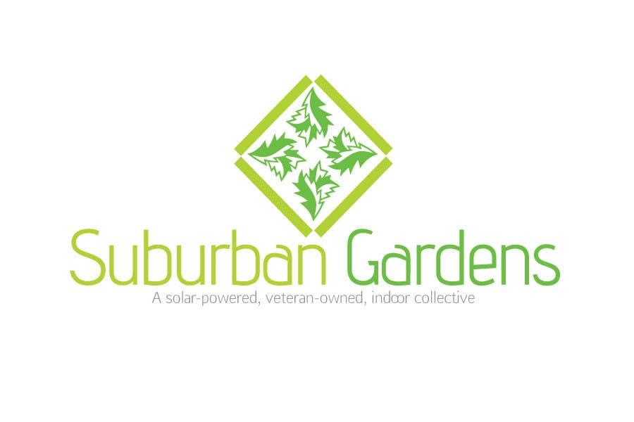 Konkurrenceindlæg #                                        73                                      for                                         Logo Design for Suburban Gardens - A solar-powered, veteran owned indoor collective