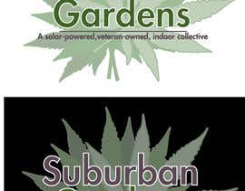LynnN tarafından Logo Design for Suburban Gardens - A solar-powered, veteran owned indoor collective için no 53