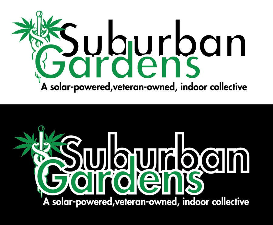 Konkurrenceindlæg #                                        54                                      for                                         Logo Design for Suburban Gardens - A solar-powered, veteran owned indoor collective