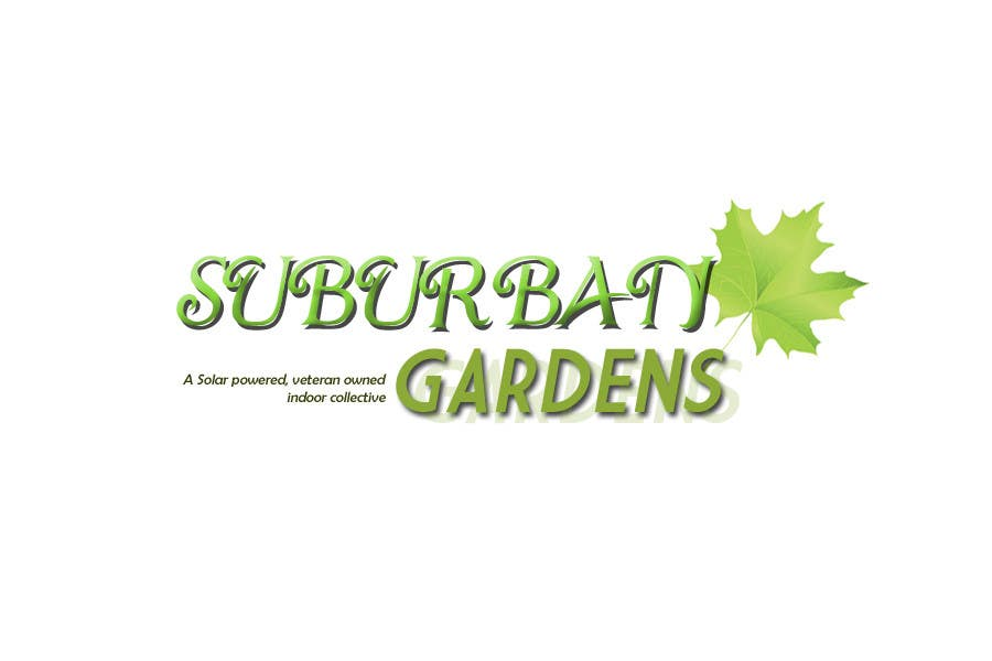 Contest Entry #                                        83                                      for                                         Logo Design for Suburban Gardens - A solar-powered, veteran owned indoor collective