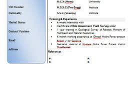 #9 for Design a CV Resume (MS WORD FORMAT) af rajafaizan