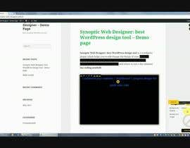 #1 cho Create a Video for Synoptic Visual Designer: best WordPress design tool bởi diabeticGamer