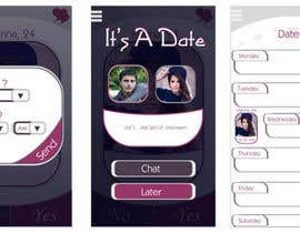 #21 cho Design an App Mockup for Dating Application bởi AlmondSketch