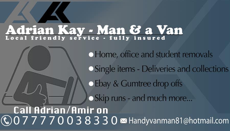 Kilpailutyö #15 kilpailussa Design some Business Cards for removals/handy man