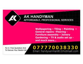 #10 for Design some Business Cards for removals/handy man af pravinzade