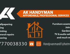 atiquecse11 tarafından Design some Business Cards for removals/handy man için no 19