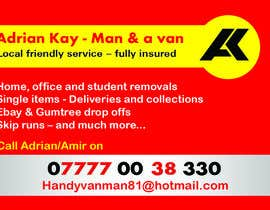 fox29891 tarafından Design some Business Cards for removals/handy man için no 1
