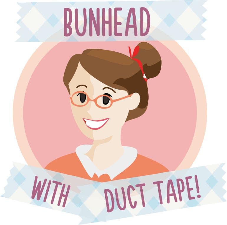 "Penyertaan Peraduan #15 untuk Design a Logo for my ""Bunhead with Duct Tape"" Website/Blog/Business Cards"