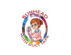 "PSKR27 tarafından Design a Logo for my ""Bunhead with Duct Tape"" Website/Blog/Business Cards için no 12"