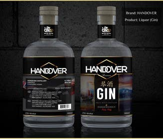 #231 untuk Design a Logo and bottle label for Handover Gin oleh chubbycreations