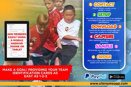 #9 for Design a 4x6 Flyer for Kids Soccer Club & Church identity cards af johanfcb0690