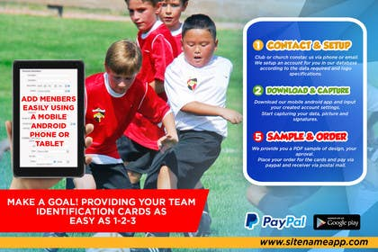 #20 for Design a 4x6 Flyer for Kids Soccer Club & Church identity cards af johanfcb0690