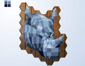 #41 untuk Illustrate a geometric animal head oleh Cornman