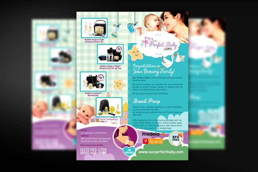 entry 11 by mirandalengo for design a tri fold bi fold business