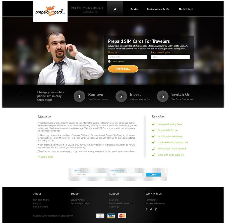 Konkurrenceindlæg #17 for Make a new design for homepage...