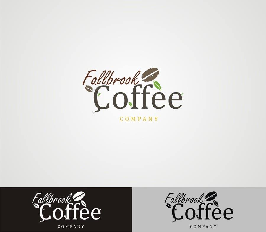 Penyertaan Peraduan #47 untuk Fallbrook Coffee Company Logo