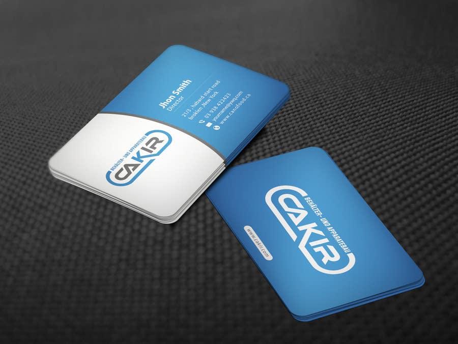 Penyertaan Peraduan #63 untuk Design of a Businesscard and a letterhead for the Company CAKIR