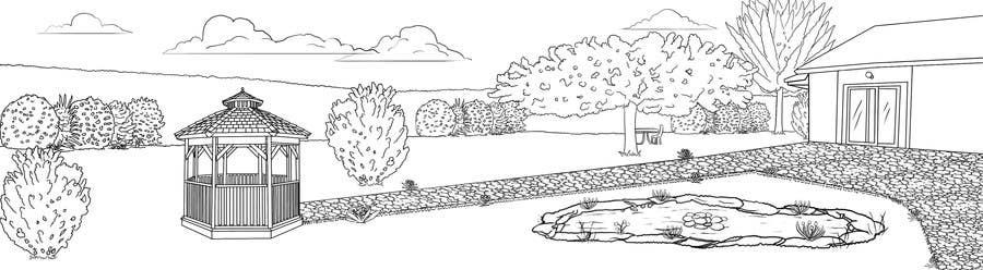Proposition n°10 du concours J'ai besoin d'une conception graphique pour réaliser une illustration de jardin