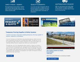 jituchoudhary tarafından Design a Website Mockup for Fortress Fencing Building Homepage için no 1