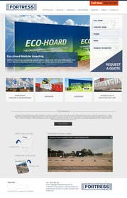 zicmedia tarafından Design a Website Mockup for Fortress Fencing Building Homepage için no 31